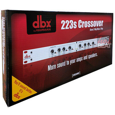 DBX 223s Stereo 2-way Mono 3-Way Crossover 691991401251 FAST GROUND SHIPPING