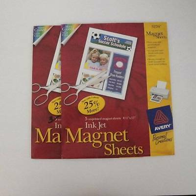 Avery 8 Magnet Sheets Ink Jet Printable White 8.5X11 Avery 3270