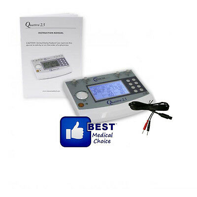 ROSCOE MEDICAL QUATTRO 2.5 ELECTROTHERAPY MUSCLE STIMULATOR 4 CHANNEL warranty2Y