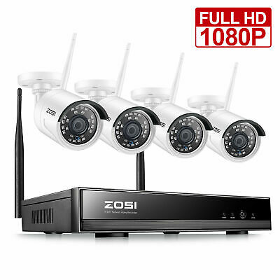 ZOSI 4CH Wireless 960P HDMI NVR Outdoor HD IP Camera Kit CCTV Security System