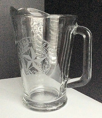 Lone Star State of Texas Beer Glass Beverage Pitcher Faux State Seal