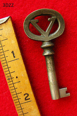 Nickle or Brass Antique Real Victor Victrola Skeleton Key - More Rare Keys Here