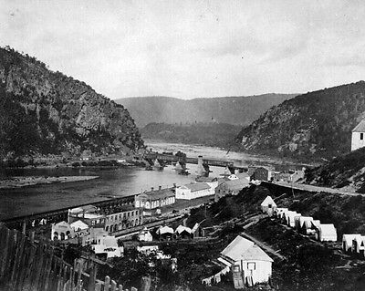 New 11x14 Civil War Photo: Shenandoah & Potomac Rivers at Harper's Ferry