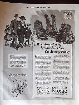 1918 Korry Krome Leather Soles Advertisement