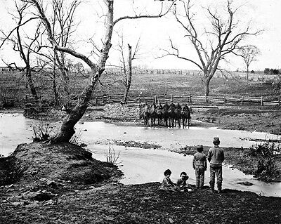New 11x14 Civil War Photo: Federal Cavalry at Sudley Ford at Bull Run, Manassas