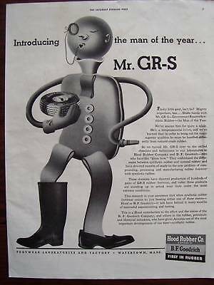 1943 B.F. Goodrich Man of the Year Mr. GR-S Tire Advertisement