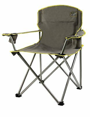 Heavy Duty Grey Quik Portable Folding Brand New Chair Camping Lawn Patio Deck