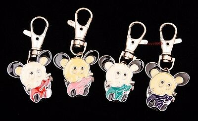 New 10pcs Cute Little Mouse Style boy girl lady Key Ring pocket Watches USK7