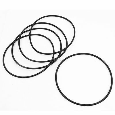 5Pcs Flexible Rubber O Ring Seal Washer Gasket Black 120mm x 3.5mm