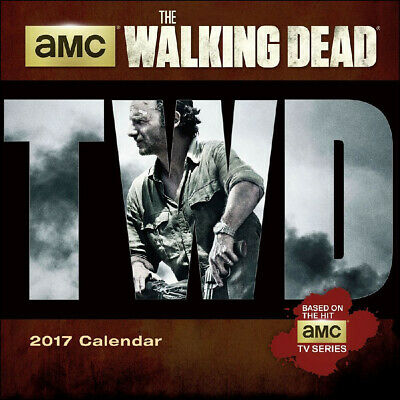 The Walking Dead TV Series 12 Month 2017 Mini Wall Calendar, NEW SEALED