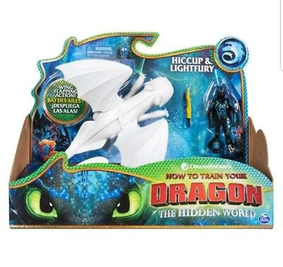 HTTYD 3 Hiccup & Lightfury White Toothless Hidden World How to train your Dragon