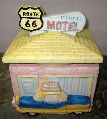 Fitz and Floyd Route 66 1993 Roadside Motel Omnibus Canister Cookie Jar