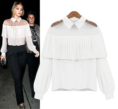 Fashion Women's Lace Tops Tee Long Sleeve Shirt Casual Blouse Loose T-shirt TOY