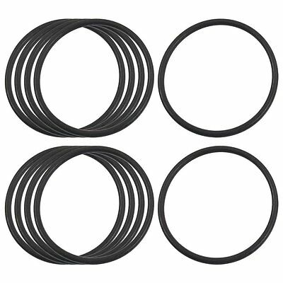 10 Pcs 37mm x 2mm Black Rubber Sealing Oil Filter O Rings Gaskets