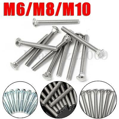 10x M6/8/10 A2 Stainless Steel 304 Flang Screws Carriage Bolts Head Metric Bolts