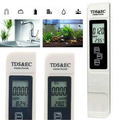 3in1 Digital TDS EC Water Quality Temperature Meter Tester Filter Pen Stick inUK