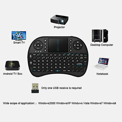 2.4GHz Keyboard Remote Control Touchpad Of PC Android TV BOX Lot MC