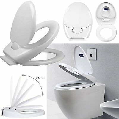 Soft Close 3 in1 Family Child Friendly Toddler Training Toilet Seat Potty White
