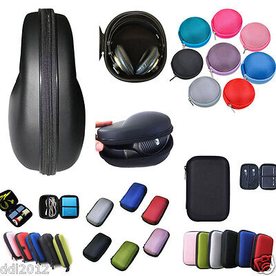 New Portable Protection Carrying Hard Case Bag For Headphone Earphone Headset