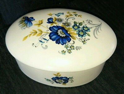 Purbeck Pottery Swanage Oval Lidded Trinket Box - Christmas Gift