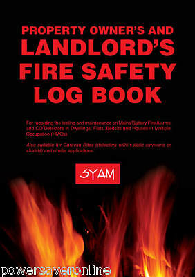 Landlord's Fire Safety Log Book for Property Owners - Smoke & CO BS5839: Part 6