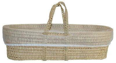 All Natural Organic Woven Palm Storage Basket (includes extra Laundry Liner!)