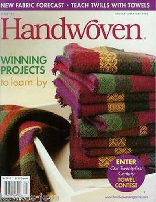 Handwoven magazine jan/feb 2006: TEACH TWILLS with TOWELS