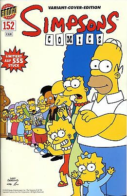 SIMPSONS #152 VARIANT-COVER-EDITION deutsch COMICFESTIVAL MÜNCHEN lim. 555 Ex