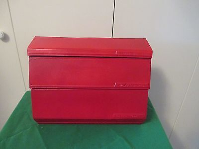 VTG LINCOLN BEAUTYWARE P.Towel, Foil & Wax Paper Wall Holder Country Red