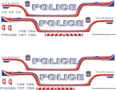 1/24 Scale Kawartha Lakes Police Canada Decals - Ford Crown Victoria Motormax