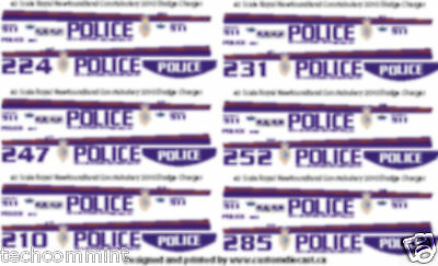 1/43 Scale Royal Newfoundland Constabulary Rnc Decals - 2010 Dodge Charger