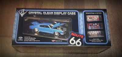 1:18 Scale Display Case For Motormax Police Car Pioneer Plastics