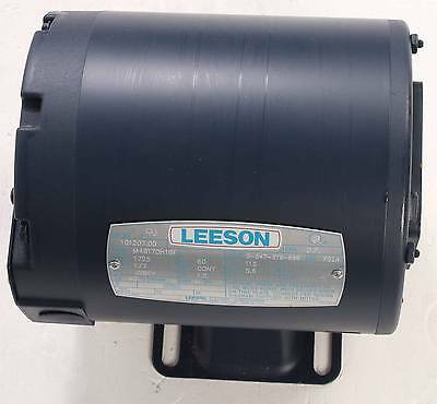New M4S17DH16F Leeson 1/3HP Electric Motor 1725RPM Cat # 101207.00, Single Phase