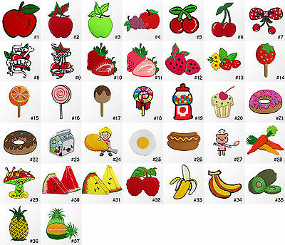 #424R Fruit Sweets Dessert Food Kids Children Embroidered Sew Iron on Patch
