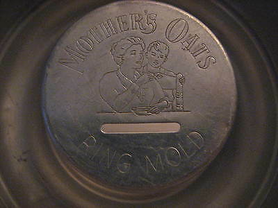 Vintage Aluminum Ring Mold MOTHER'S OATS 1920-30's Mom & Son Image