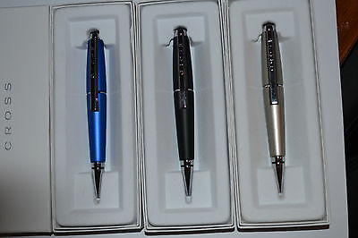 Cross Edge PEN,  NITRO BLUE, BLACK,  IN STOCK ONLY ,Gel Ink Rollerball Pen,