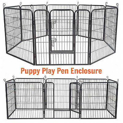 Puppy Play Pen Protect Enclosure Metal Cage Exercise Small Pets Rabbit Outdoor