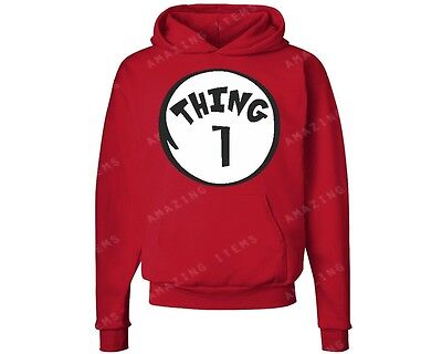Thing 1 Hoodie Dr. Seuss sweatshirt cat in the hat funny shirt halloween cool