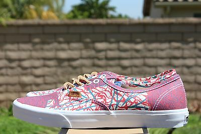 VANS AUTHENTIC CA Sz 12 Washed Herringbone Blue Off The Wall
