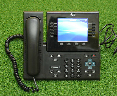 CISCO 8961 CP-8961-CL-K9 Unified IP Phone 8961 VoIP Black w/ Handset & Stand