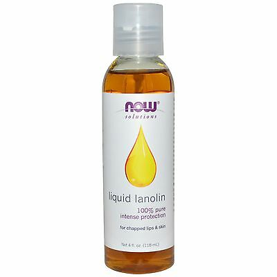 Pure Liquid Lanolin - Now Foods Natural Moisturiser For Dry Skin Water Extracted