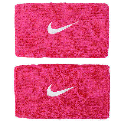 Nike 2016 Swoosh Wristband Double Wide Tennis Fitness Sports Pink AC2287-639
