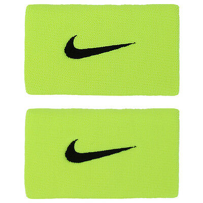 Nike 2016 Dri-Fit Double Wide Sweat Wristband Tennis Fitness Volt PAC300-713