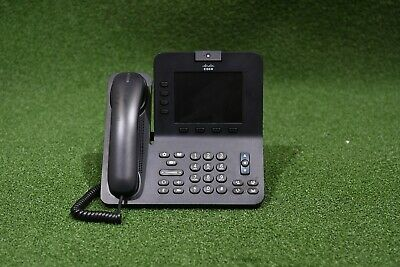 CISCO CP-8945-K9 Unified Video VoIP IP Phone w/ Power Cube Supply Unit - 1 YR WT