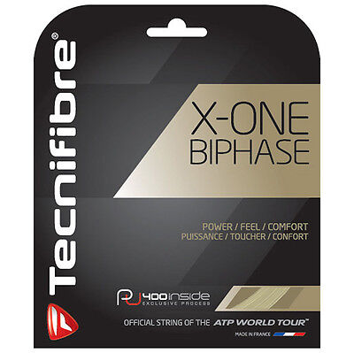 Tecnifibre X-ONE BIPHASE Tennis String - 12m - 1.30mm/16G Natural - Free UK P&P