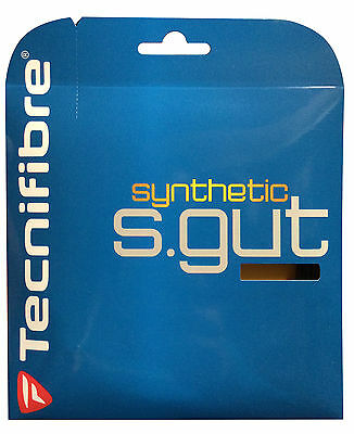 Tecnifibre Synthetic Gut - Tennis Squash String - 12m - 1.25mm / 17G Black Set