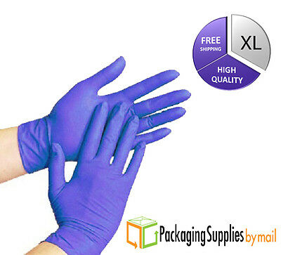 200 Blue Nitrile X-Large Powder Free Disposable Gloves 3.5 Mil