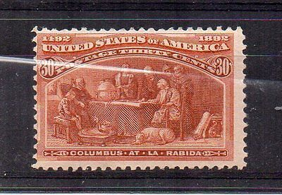 United States 1893 30c  Columbian Exhibition, Chicargo MH