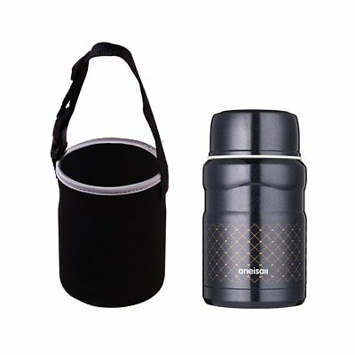 ONEISALL 16 oz Stainless Steel Vacuum Thermos Food Jar Container w/Folding Spoon
