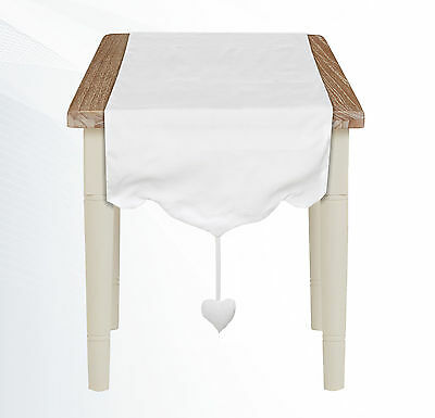 Runner Shabby Chic Blanc Mariclo Sweet Collection Colore Bianco  50 x 150 cm